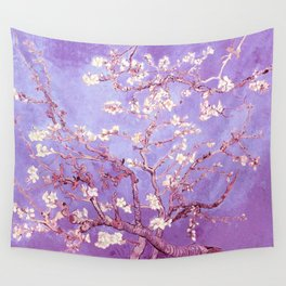 Van Gogh Almond Blossoms Orchid Purple Wall Tapestry