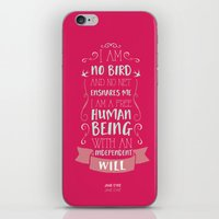 jane eyre iPhone & iPod Skins featuring Jane Eyre by Nikita Gill