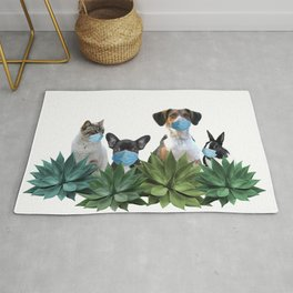 Pets Animals Mouth Nose Mask - Agave Leaves Rug