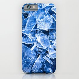 Blue Broken Ice for hot summer days iPhone Case