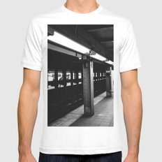 Brooklyn Subway MEDIUM Mens Fitted Tee White