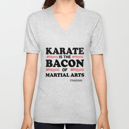 Karate martial arts sports power struggle gift Unisex V-Neck