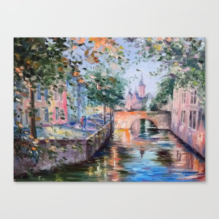 Town bridge Canvas Print