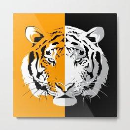 Tiger Poles Metal Print