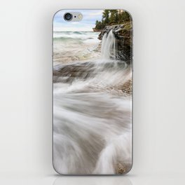 Elliot Falls on Miners Beach - Pictured Rocks, Michigan iPhone Skin