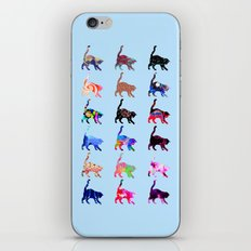 Pretty Cats - Blue iPhone & iPod Skin