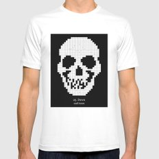 25. Down MEDIUM Mens Fitted Tee White
