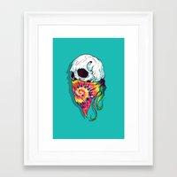 hipster Framed Art Prints featuring Hipster by Steven Toang