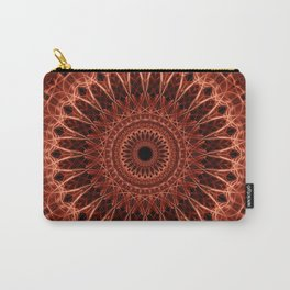 Brown and red tones mandala Carry-All Pouch