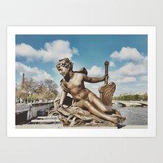 Pont Alexandre III Bridge Paris, France Art Print