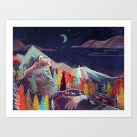 sleep Art Prints featuring Sleep by Karl James Mountford