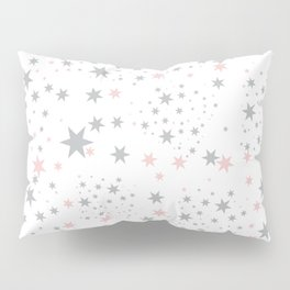 Stars silver and blush Pillow Sham