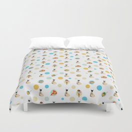 Italian Food Collection Duvet Cover