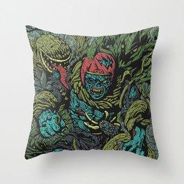 Zombie vs Plant! Throw Pillow