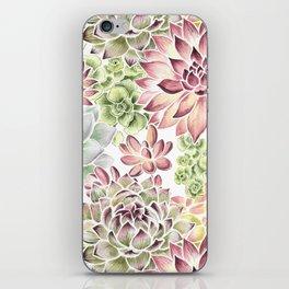 Bright Watercolor Succulents iPhone Skin