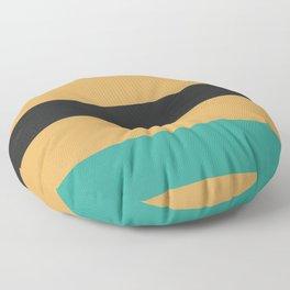 A rare variation of Earth Yellow, Raisin Black, Sea and Sea stripes. Floor Pillow