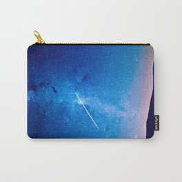 distant milky way galaxy at night beautiful night sky shooting star Carry-All Pouch