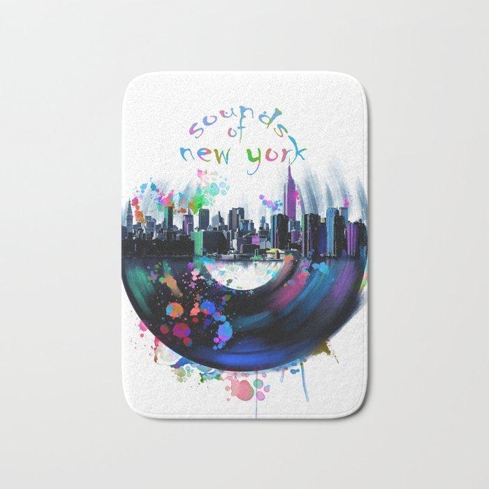 new york city music3 Bath Mat