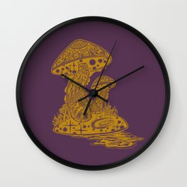 SHROOM SWAMP - PURPLE Wall Clock