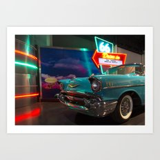 Chevy Drive In Art Print
