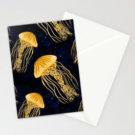 Galaxy Jellyfish Pattern Stationery Cards