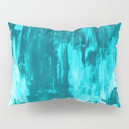Bright Blue Snow Nights with Icicles Pillow Sham