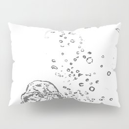 Two Tailed Duck and Jellyfish White Pillow Sham
