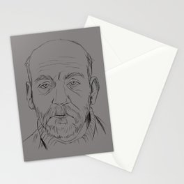 Old guy Stationery Cards