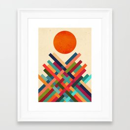Sun Shrine Framed Art Print