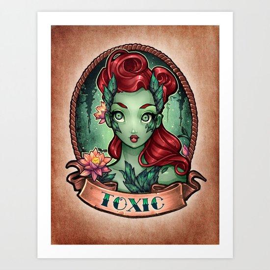 TOXIC pinup Art Print