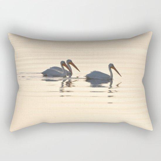 WHITE PELICANS ON THE SALTON SEA Rectangular Pillow