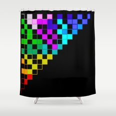 squares in a triangle Shower Curtain