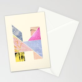 Collaged Tangram Alphabet - H Stationery Cards