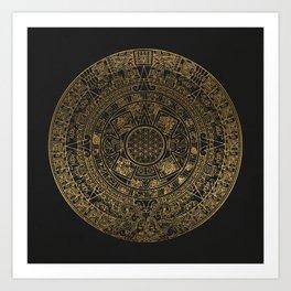 The Mayan Realization Art Print