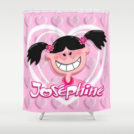 Josephine Pink Hearts 2 Shower Curtain