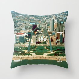 St. Louis Arch and Skyline Throw Pillow