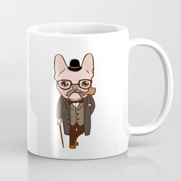 The Frenchie gentleman takes a walk after the spring rain Coffee Mug