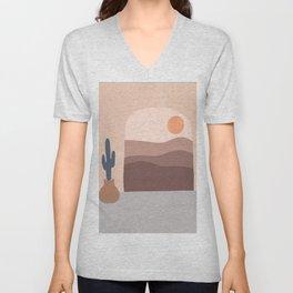 Desert Abstract  Unisex V-Neck