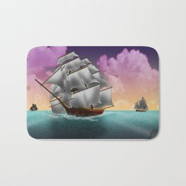 Rigged Ships Bath Mat