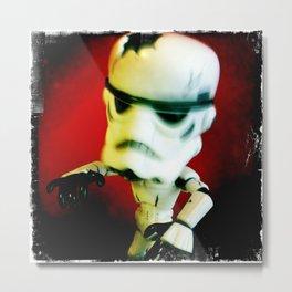 Zombie Stormtrooper Attack Metal Print