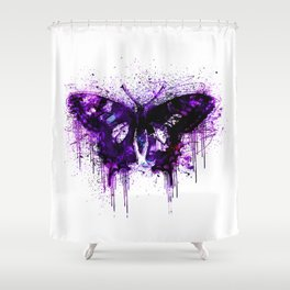 Crazy Butterfly artistic mixed media Shower Curtain