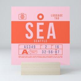 Luggage Tag B - SEA Seattle Tacoma USA Mini Art Print