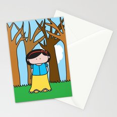 Snow White Stationery Cards