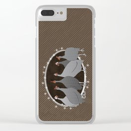 Helmeted Guineafowl Clear iPhone Case
