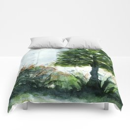 A Lovely Day, Abstract Landscape Art Comforters