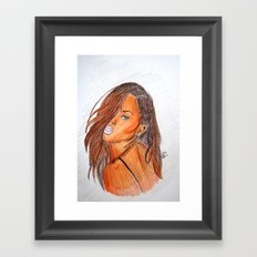 BAD GIRL RIRI  Framed Art Print