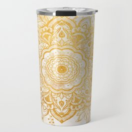 Queen Starring of Mandala-Gold Sunflower II Travel Mug
