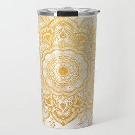 Queen Starring of Mandala-Gold Sunflower II Travel Mug