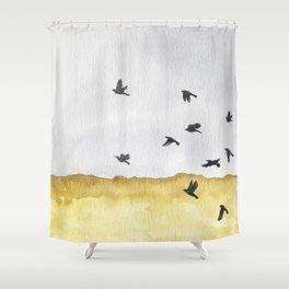 Autumn Crows Shower Curtain