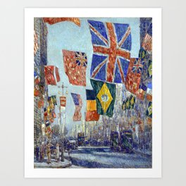Childe Hassam Avenue of the Allies, Great Britain Art Print